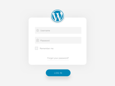 Login Screen - Wordpress