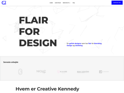 Landing page ´Creative Kennedy´