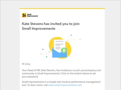 Invitation letter mockup illustration template design email