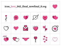Infogravy | Love Icon Set