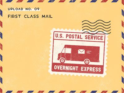Infogravy | Mail Stamp Icon