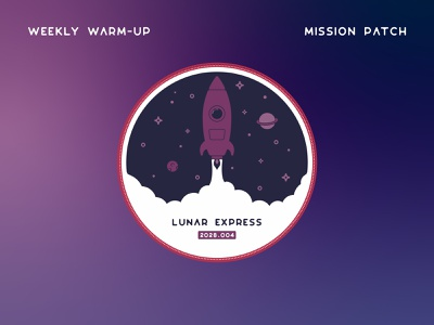 Infogravy | Space Mission Patch outline custom icon design vector illustration flat line art icons icon flat design patch design patch dribbbleweeklywarmup