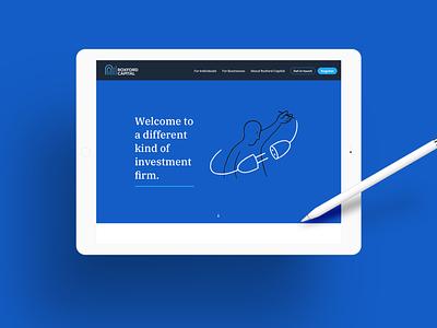 Roxford Capital clean vector illustrator graphic design illustration typography ui web minimal branding