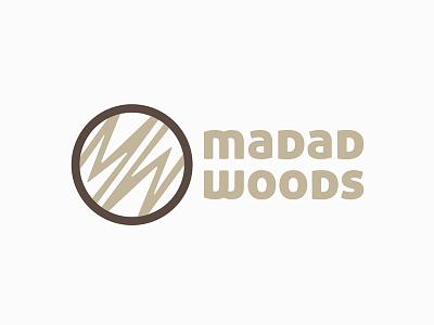 Madad Woods logo & identity design graphic branding