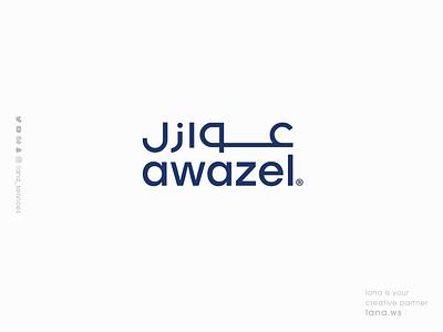 Awazel LOGO lana-services website web typography ux illustration ui graphic design branding brand animation logo