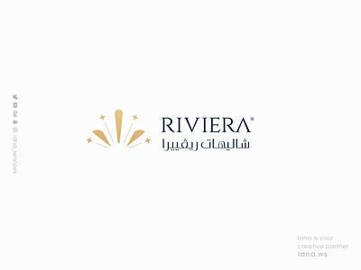 RIVIERA CHALET  LOGO lana-services web vector ux typography illustration ui graphic design branding brand animation logo