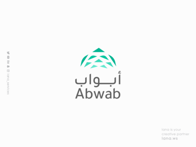 Abwab LOGO ux ui illustration lana-services animation graphic design branding brand logo