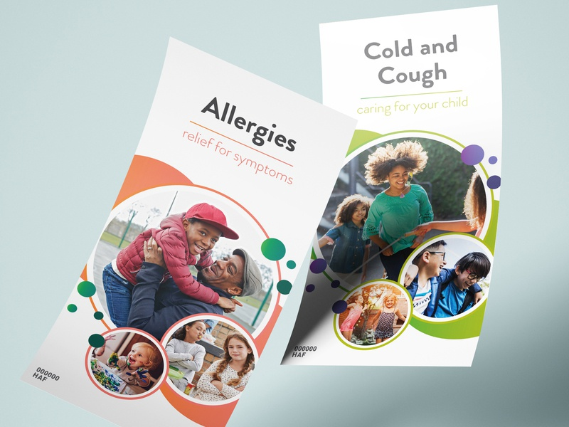 Pediatric Brochure Covers kids editorial design graphic design