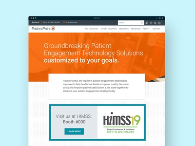 Option 2 for HIMSS Landing Page