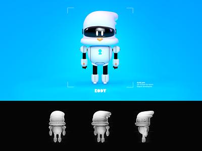 Kody-Chatbot Pet pet robot bot 3dart characterdesign character branding ai illustration design 3dsmax 3d modeling 3d