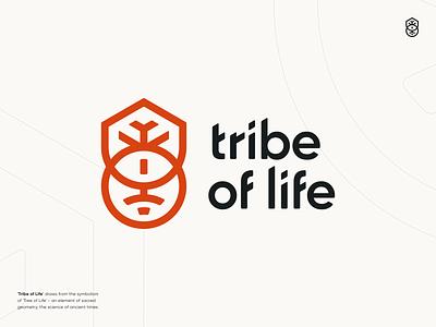Tribe of Life Logo connect tree life tribe flat icon mark illustration logotype identity symbol typography design clean minimal vector ui graphic design branding logo