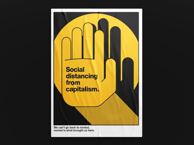 Lessons socialdistancing isolation capitalism helvetica poster art poster yellow vector capital color palette letter typography illustration design