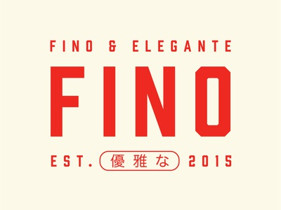FINO type font condensed font design condensed chinese logo red capital color palette typography