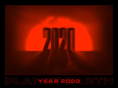 YEAR 2020 year in review year 2020 design 2020 spooky halloween red poster design poster art poster vector color palette capital letter typography illustration design