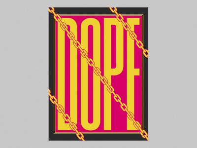 NONSENSE 3 swag bling dope hiphop daily pink condensed condensed font poster design poster art poster yellow color palette capital letter typography illustration design