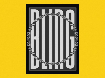 NONSENSE 1 BW bling swag dope hiphop black and white bw poster design poster art poster yellow capital letter typography illustration design