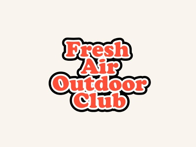 Fresh Air Outdoor Club logotype camping outdoor cooper black branding logo design color palette capital letter typography illustration