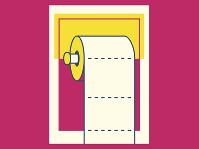 The right way vector cmyk yellow magenta poster art poster design poster toilet toilet paper color palette illustration design