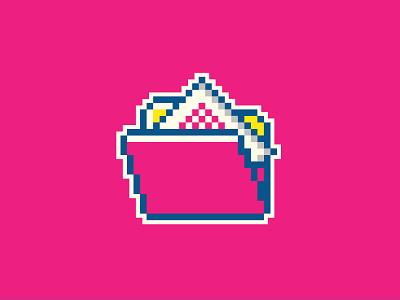 Folder windows95 windows os ui folder magenta pixelart pixel 8bit color palette illustration design