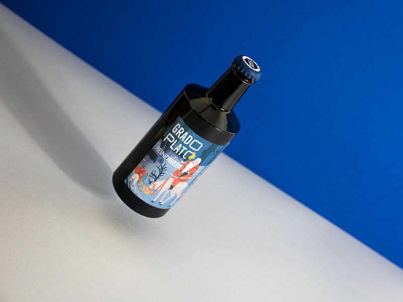 Grado Plato® Brewery - Reindbeer Label design branding procreate packagingdesign illustration design illustration brewery branding graphicdesign brewery logo brewery beer label design beer branding beer art beer label beer
