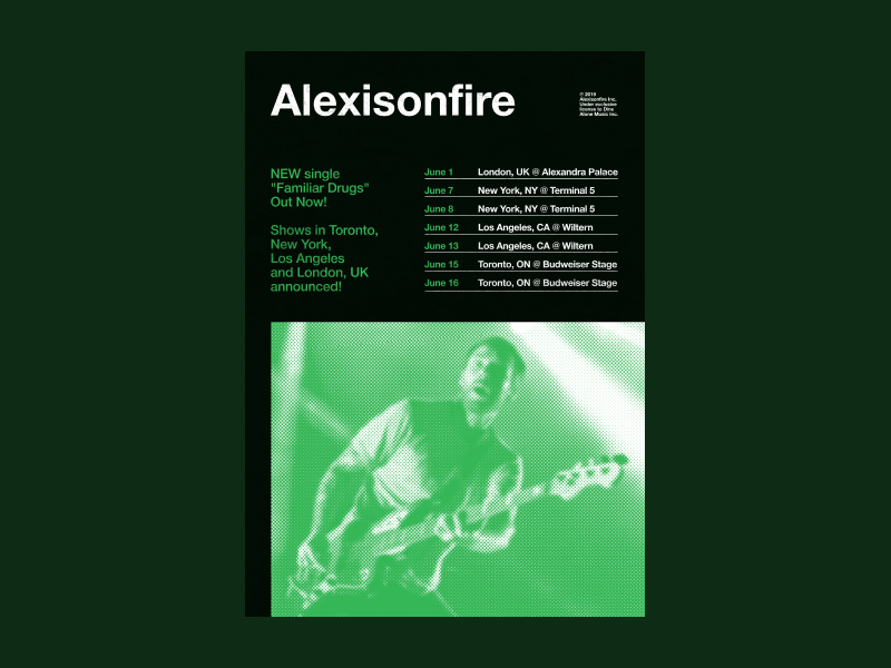 Poster #2 - Alexisonfire music artist band music typography swiss design study poster