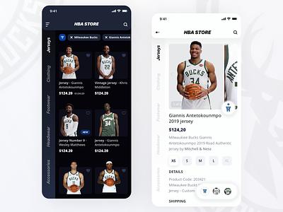 NBA Store Redesign ecommerce basketball sport typography app ux ui design