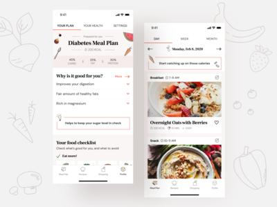 Whole foods healthcare app concept
