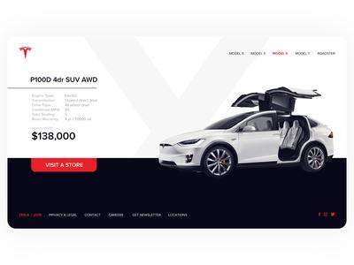 Tesla Model X UI