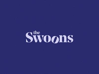 The Swoons logotype typemark branding identity band music serif logo