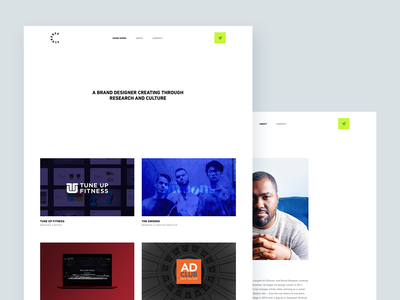 Personal Website — Desktop adobe xd webflow personal desktop website portfolio ui branding