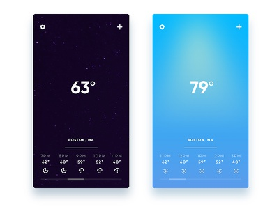 #037 - Weather welcome debut boston weather daily ui ui iphone