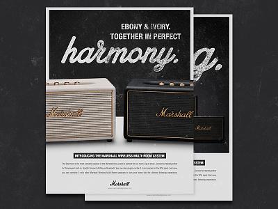 Marshall Multi-Room Speaker Campaign multi-room magazine campaign ad headphones speakers marshall
