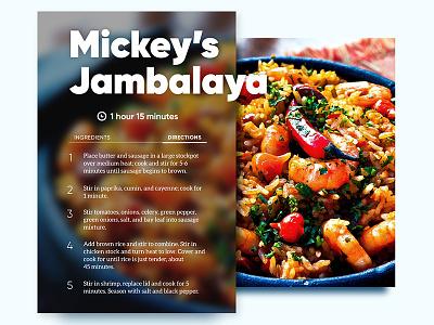 #040 - Recipe card jambalaya challenge ui daily ui