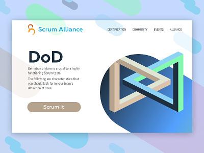 Definition of Done illustration isometric web ui