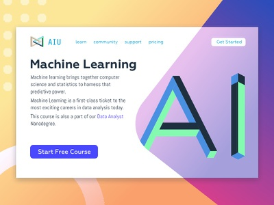Machine Learing AIU learning machine isometric ai ui
