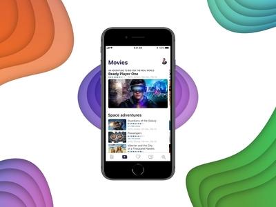 Movies screen iOS app