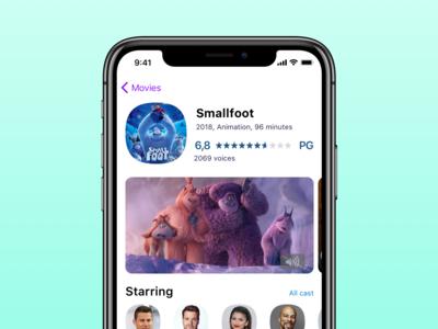 Movie app — Smallfoot
