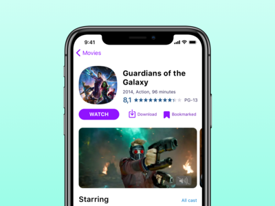 Movie app — two string title