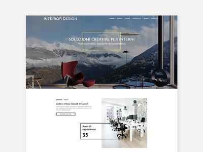 Homepage Interior design website