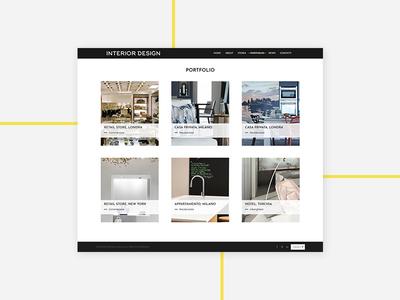 Portfolio Interior Design website