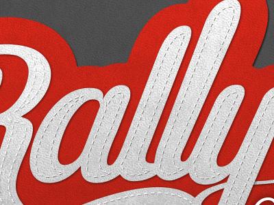 Logo Rally logo lettering photoshop