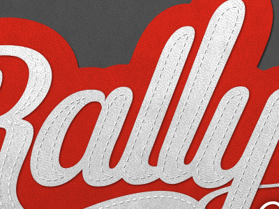 Logo Rally logo lettering photoshop