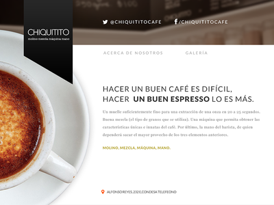 Coffee Shop art direction web design ui