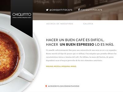 Coffee Shop art direction web design ui