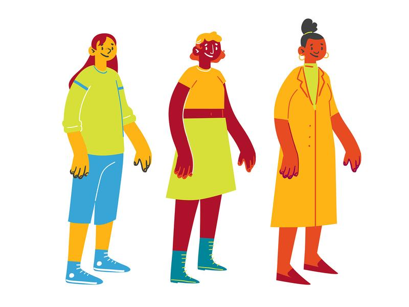 Centennial Student Concepts Pt. 1 motion animation school education teacher student conceptart illustrator vector characterconcepts characterdesign character design illustration
