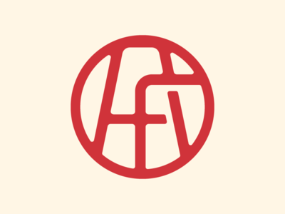 A+F typography circle emblem branding logo thick lines cattle brand mono line brand letterforms f a monogram