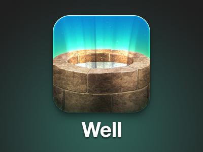 Well App Icon well magic wishing wish stone brick water icon app iphone ios