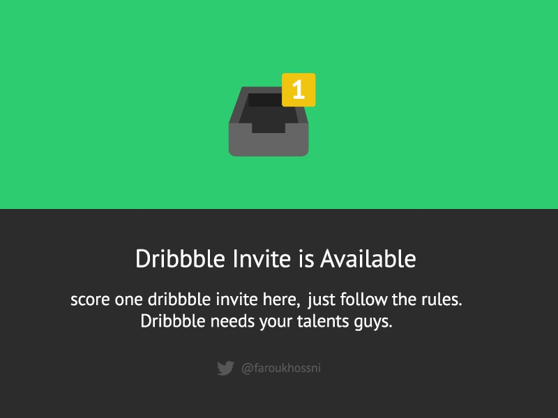 Score 1x Invite dribbble ui ux flatties icons invite yellow green dark