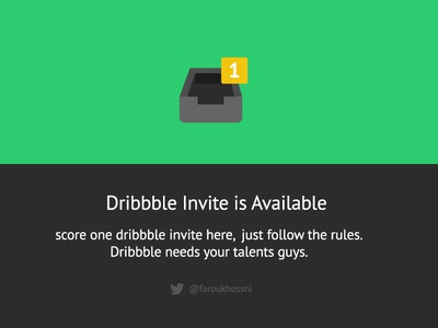 Score 1x Invite dribbble ui ux flatties icons invite yellow green dark