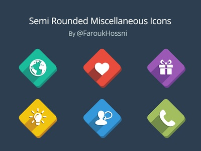 Long Shadow Icons [PSD] ui ux flat icons colorful long shadow design clean neat